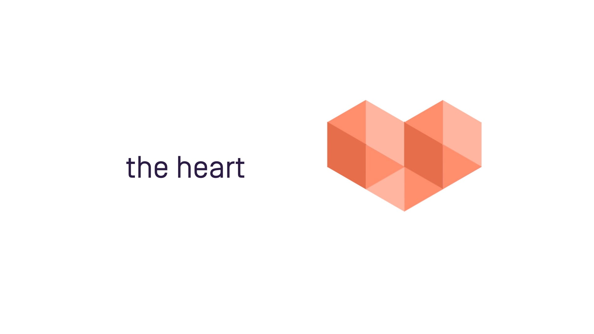 animated promotional film for launch - the heart logo