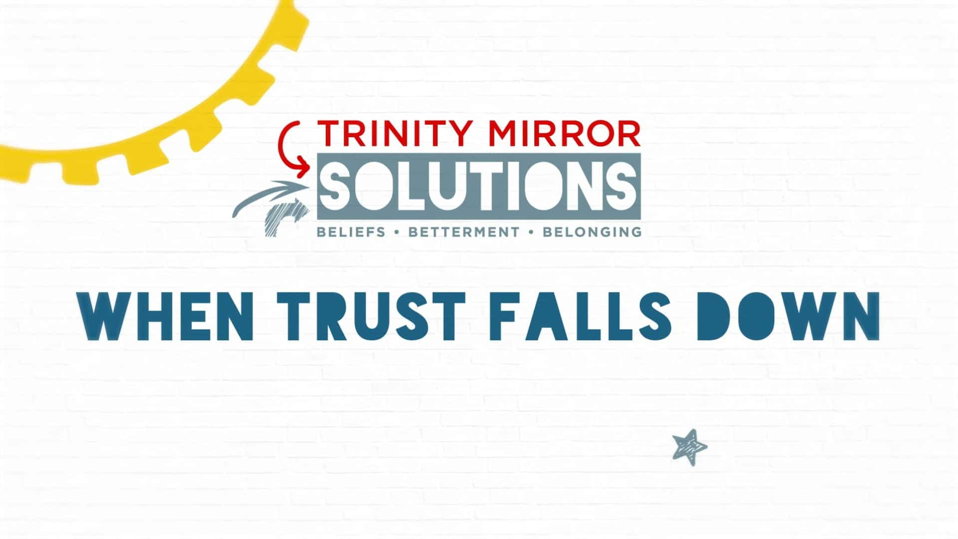 animated explainer video for research - trinity mirror when trust falls down image