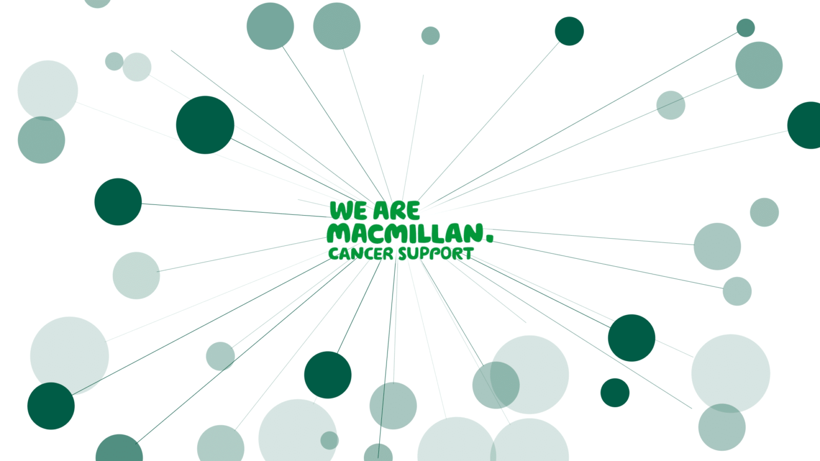 awards entry animated film - macmillan logo surrounded with green circles