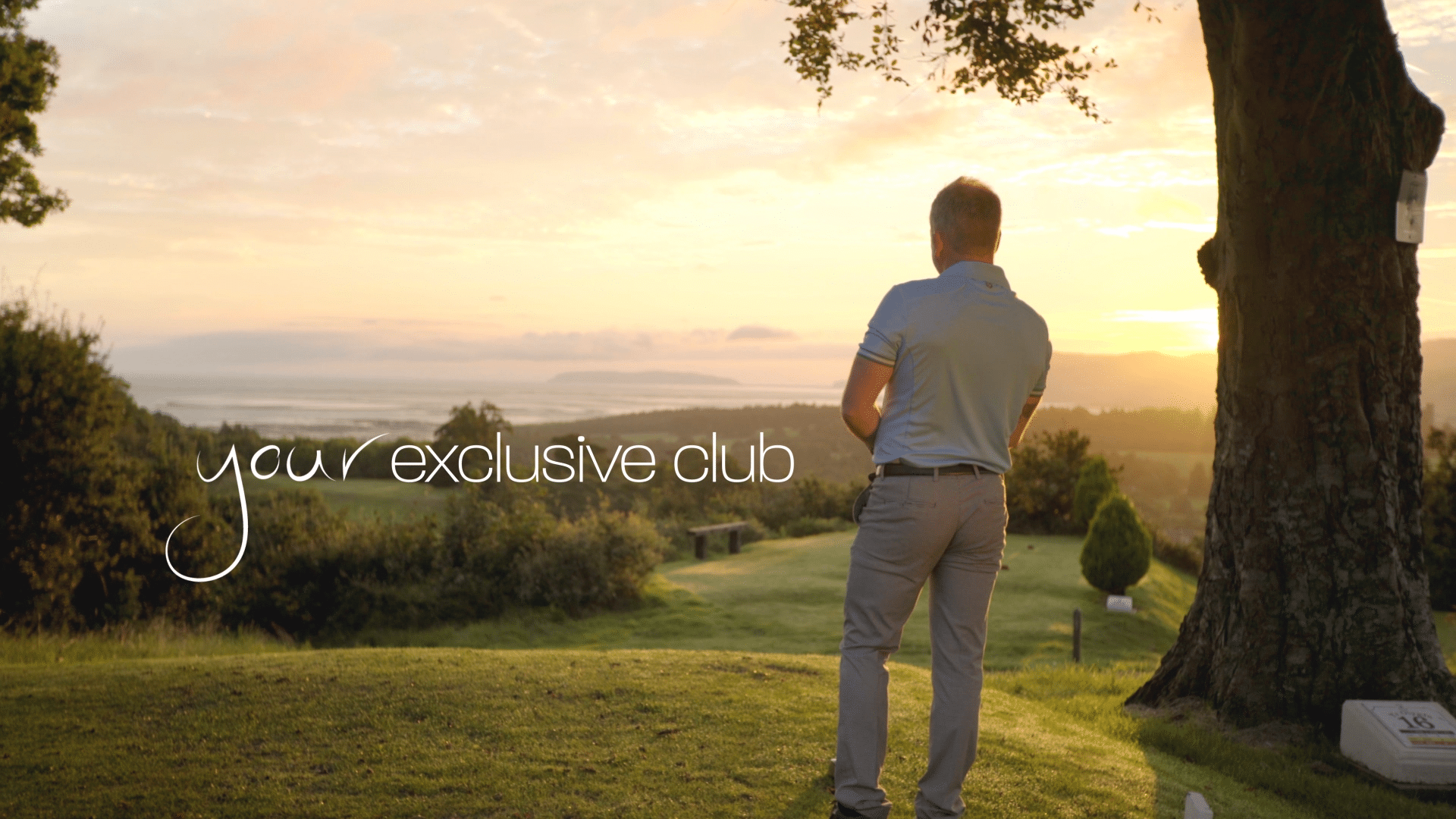 Premium Luxury Brand Film - golfer overlooking course