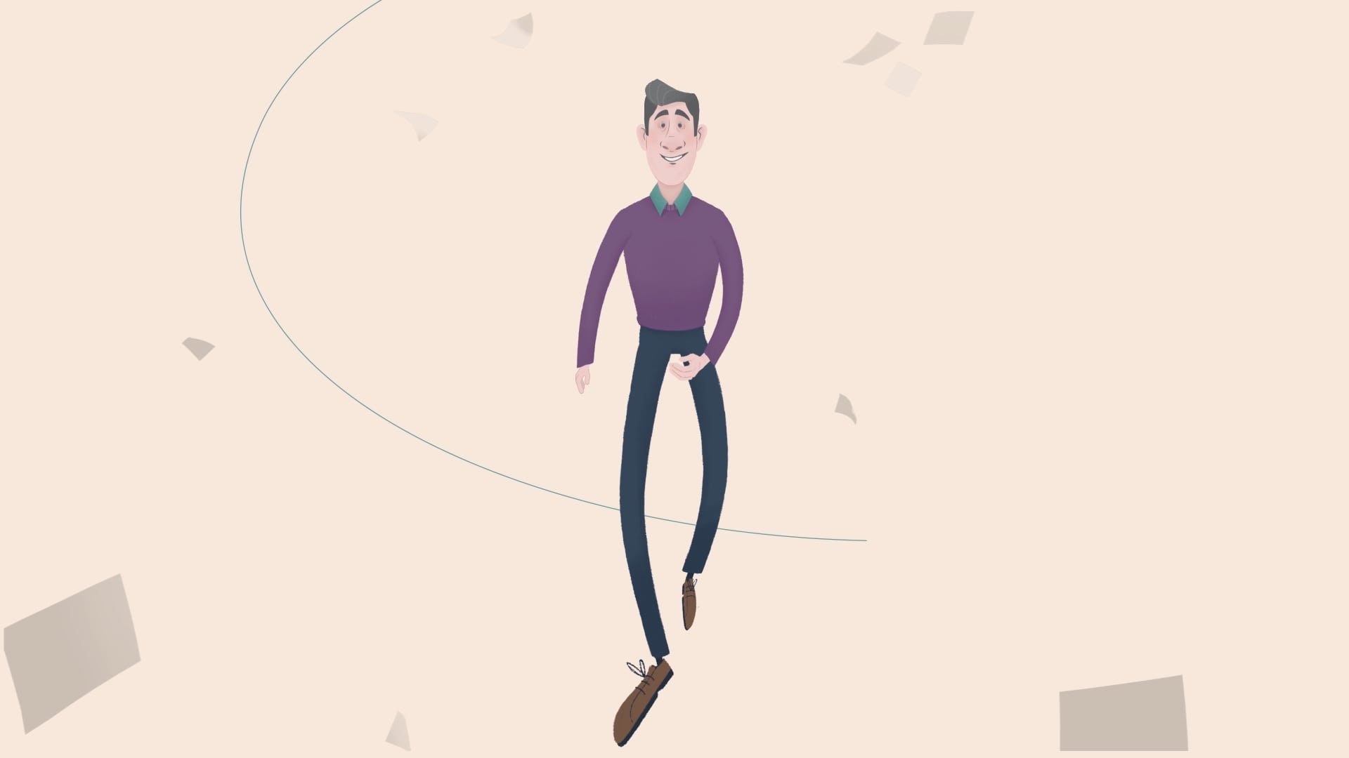 character animation for prospective investors - man walking