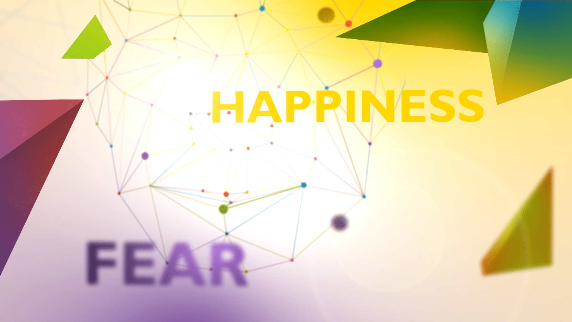 90 Second Animated Explainer Video - happiness and fear text on colourful background