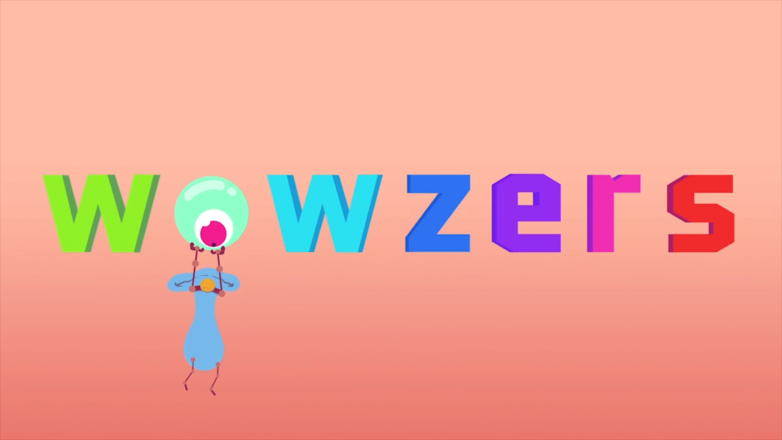 The Word Wowzers Written In Colourful Letters Animation