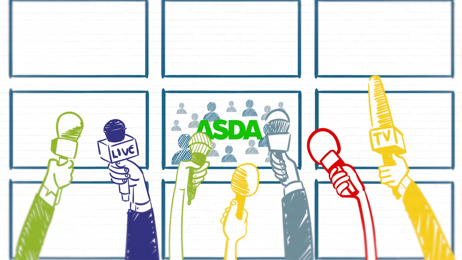 Asda Press Cartoon Visual