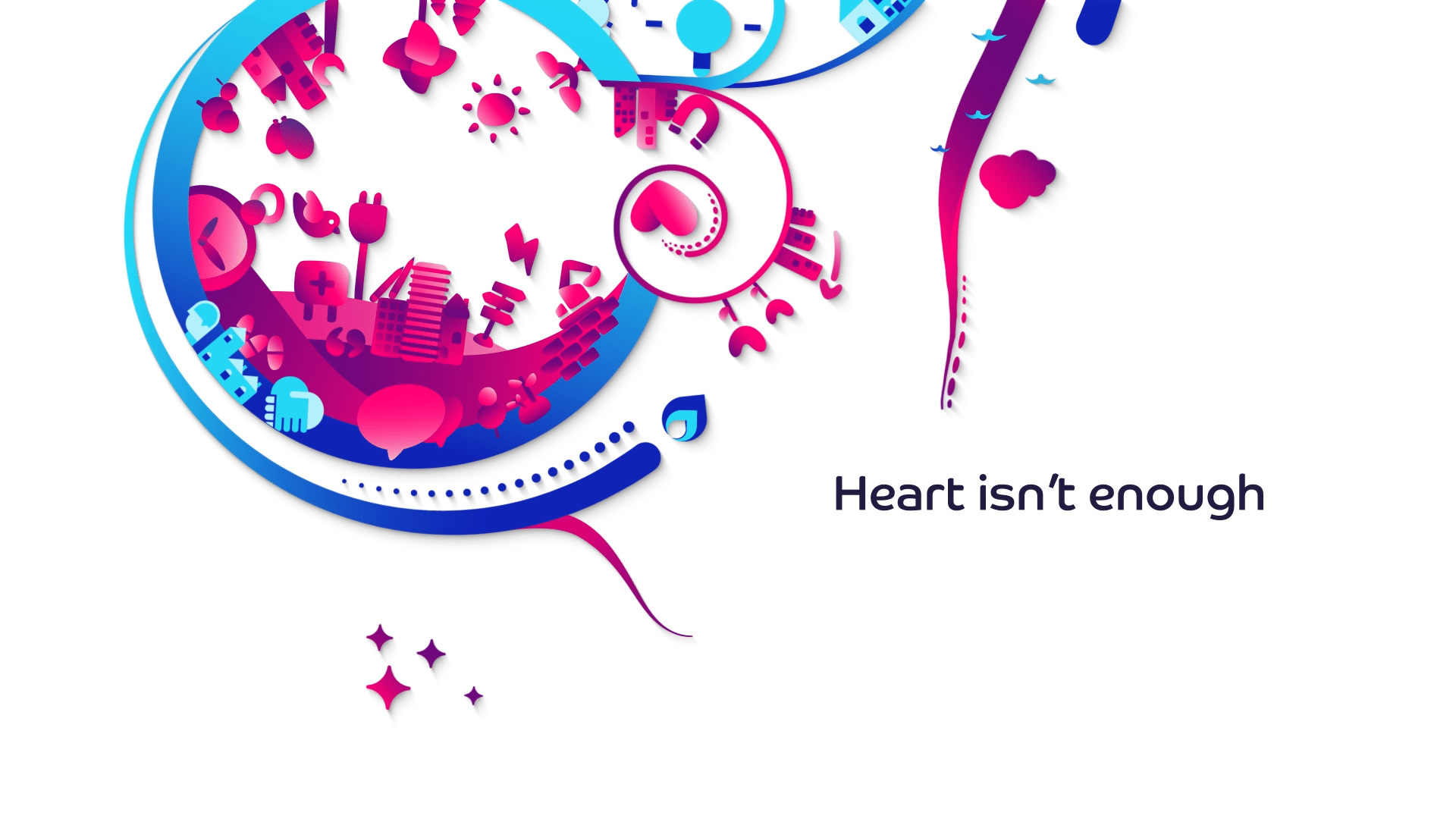 animated launch film for new branding - heart isn't enough