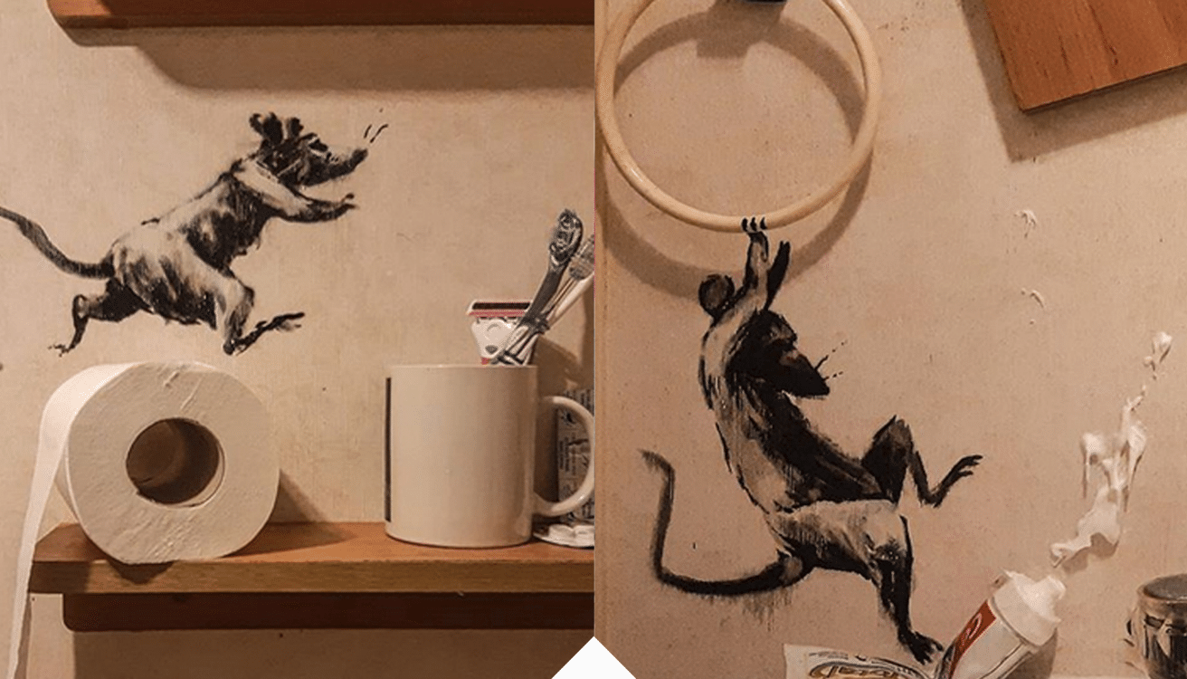 My wife hates it when I work from home - Banksy