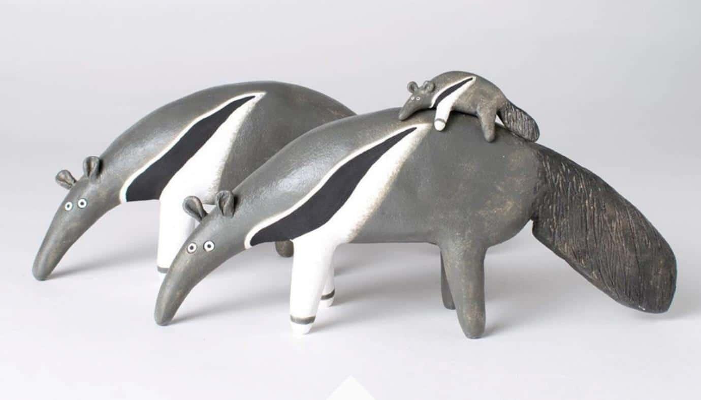 Creature ceramics, Helen Burgess, Nosey Mungo