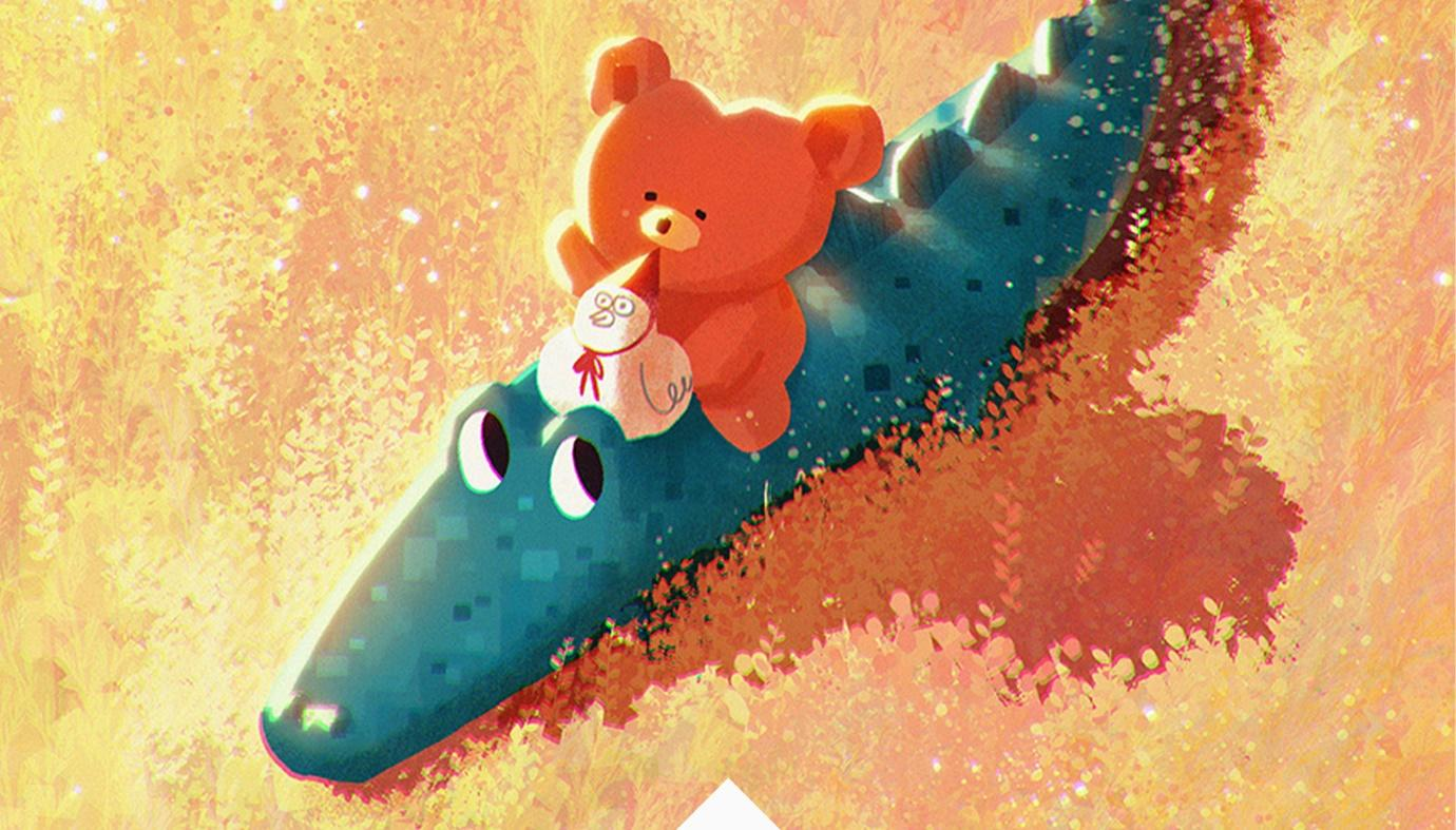 Animation of adorable character paintings, Adventure Time, Ssebong Kim, LINE+