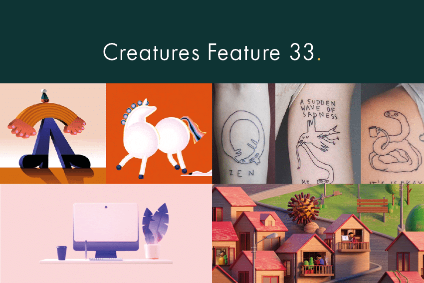 Creatures Feature 33 - Slick 3D and drawings to delight