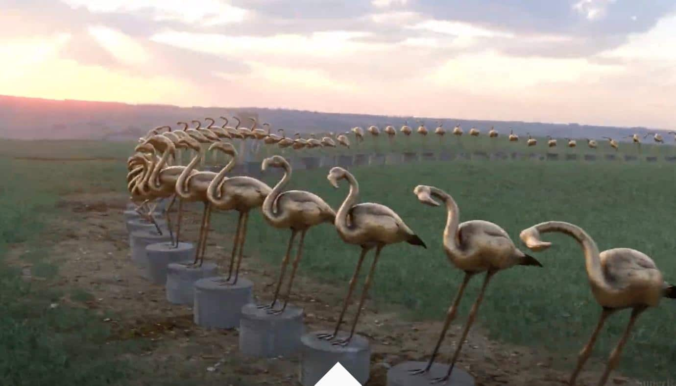 Fancy Flamingos, Giant Zoetrope Gavin Shapiro, Motion Designer